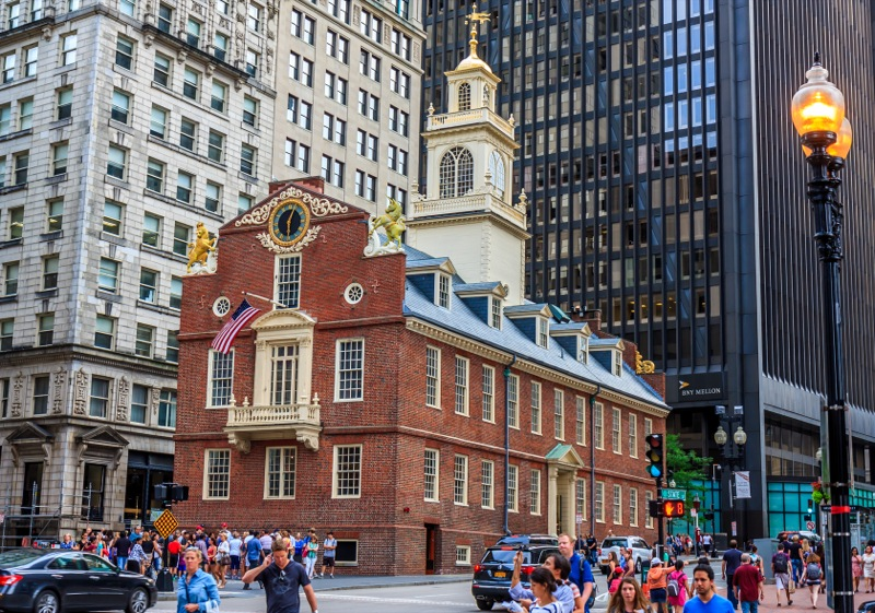 The Old State House and new buildings