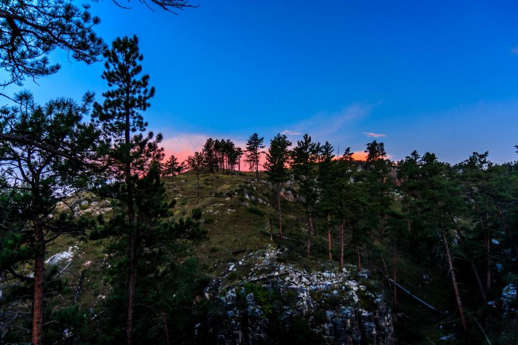 Wind Cave sunset