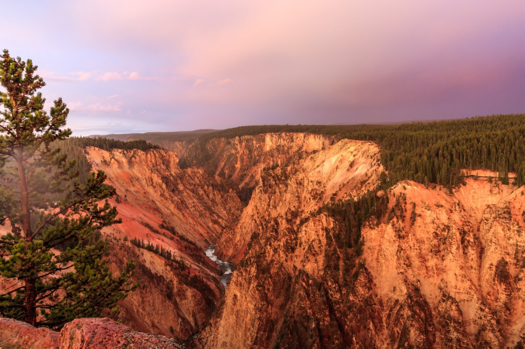 The canyon looked totally different during sunset