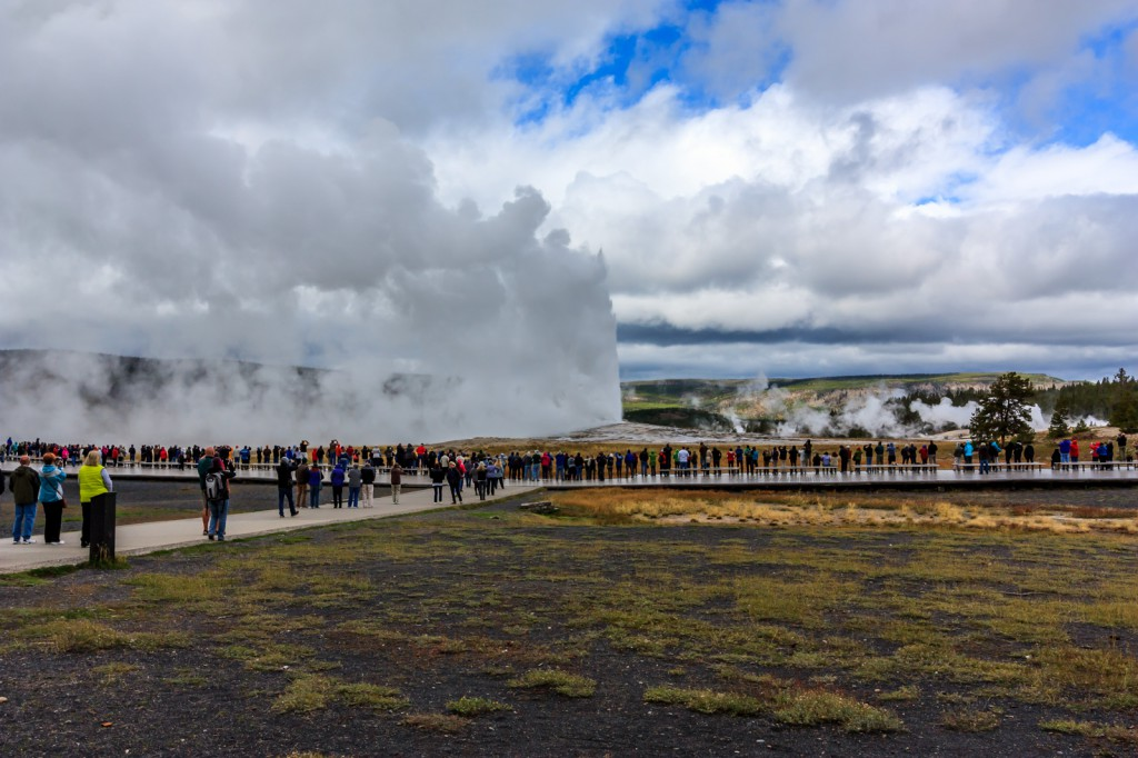 Old Faithful, the star of the show.