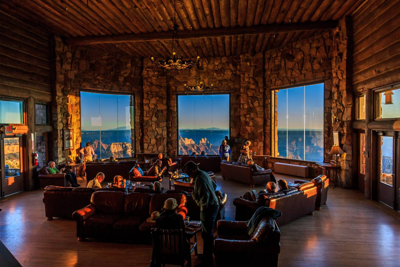 After a hard day on the trail, it was nice to relax in Grand Canyon Lodge.