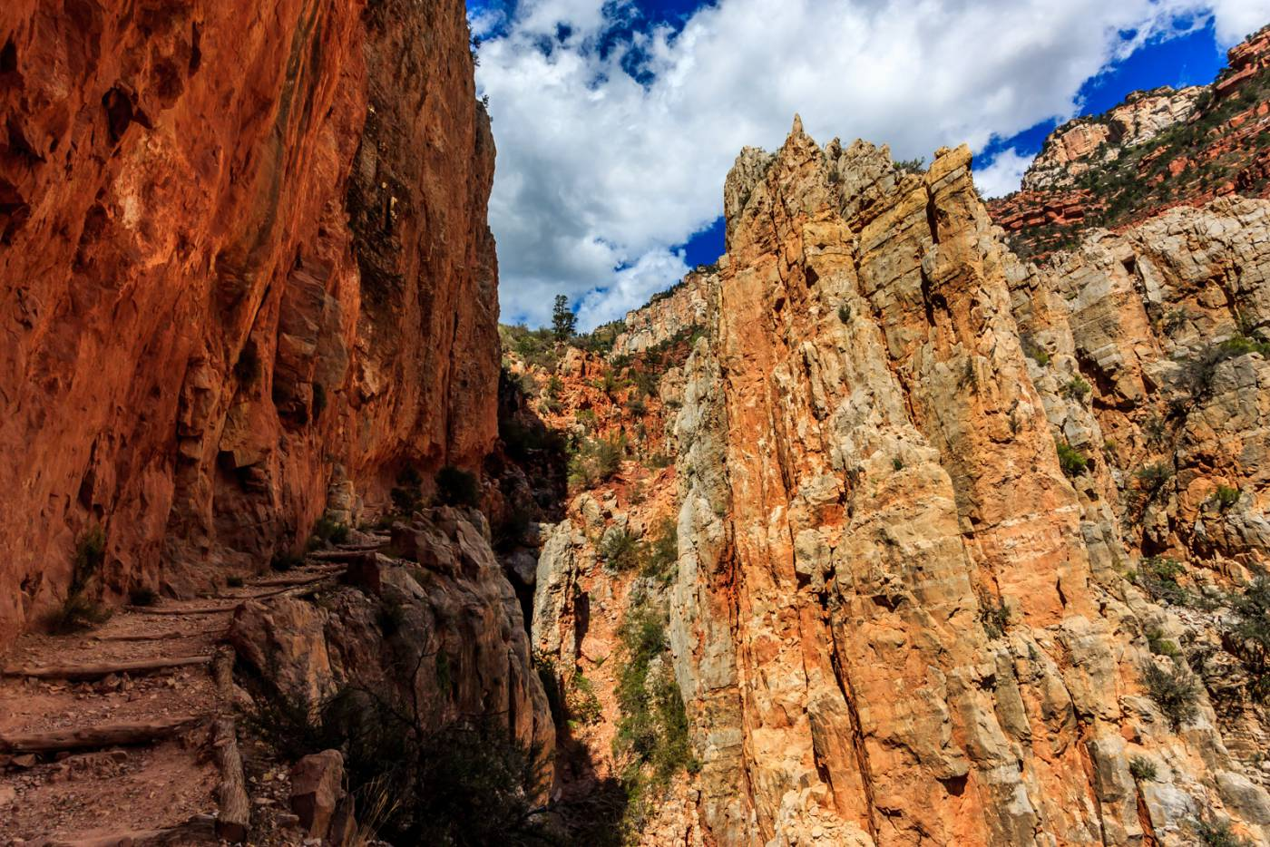 The North Kaibab Trail is a bit of a stair-climber.