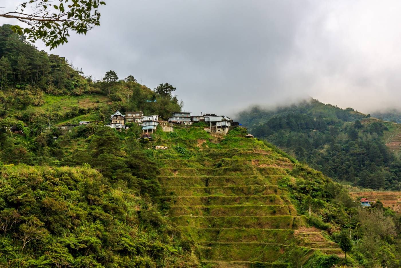 Buildings on a hill