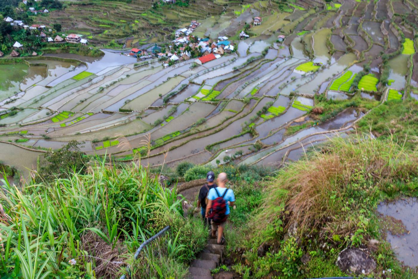 Walking to Batad