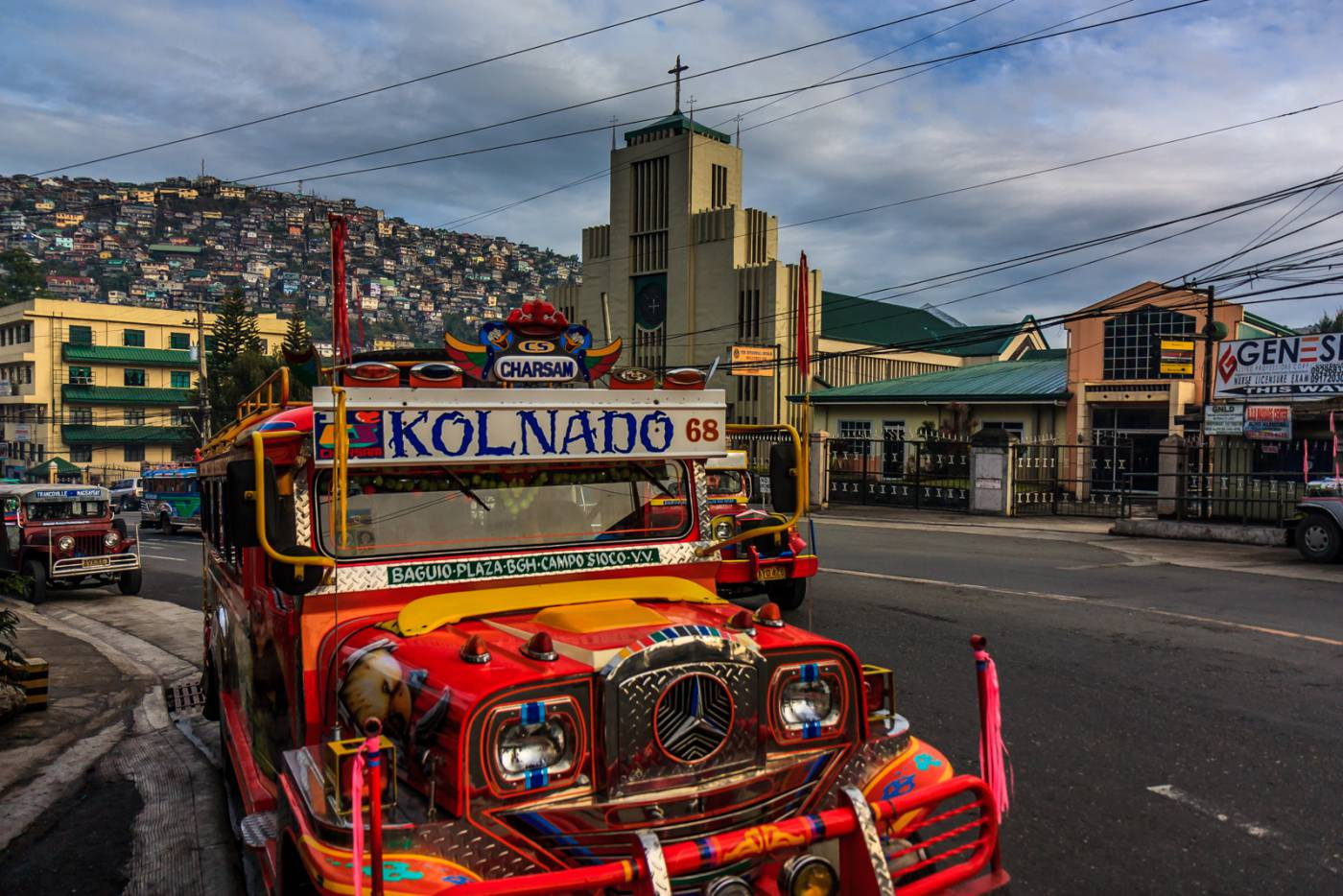 Jeepney and church