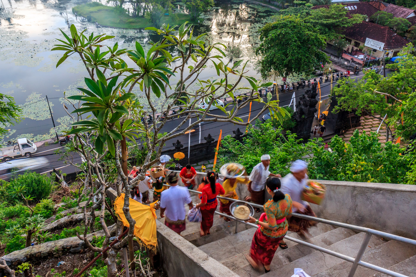 Locals heading to the temple.