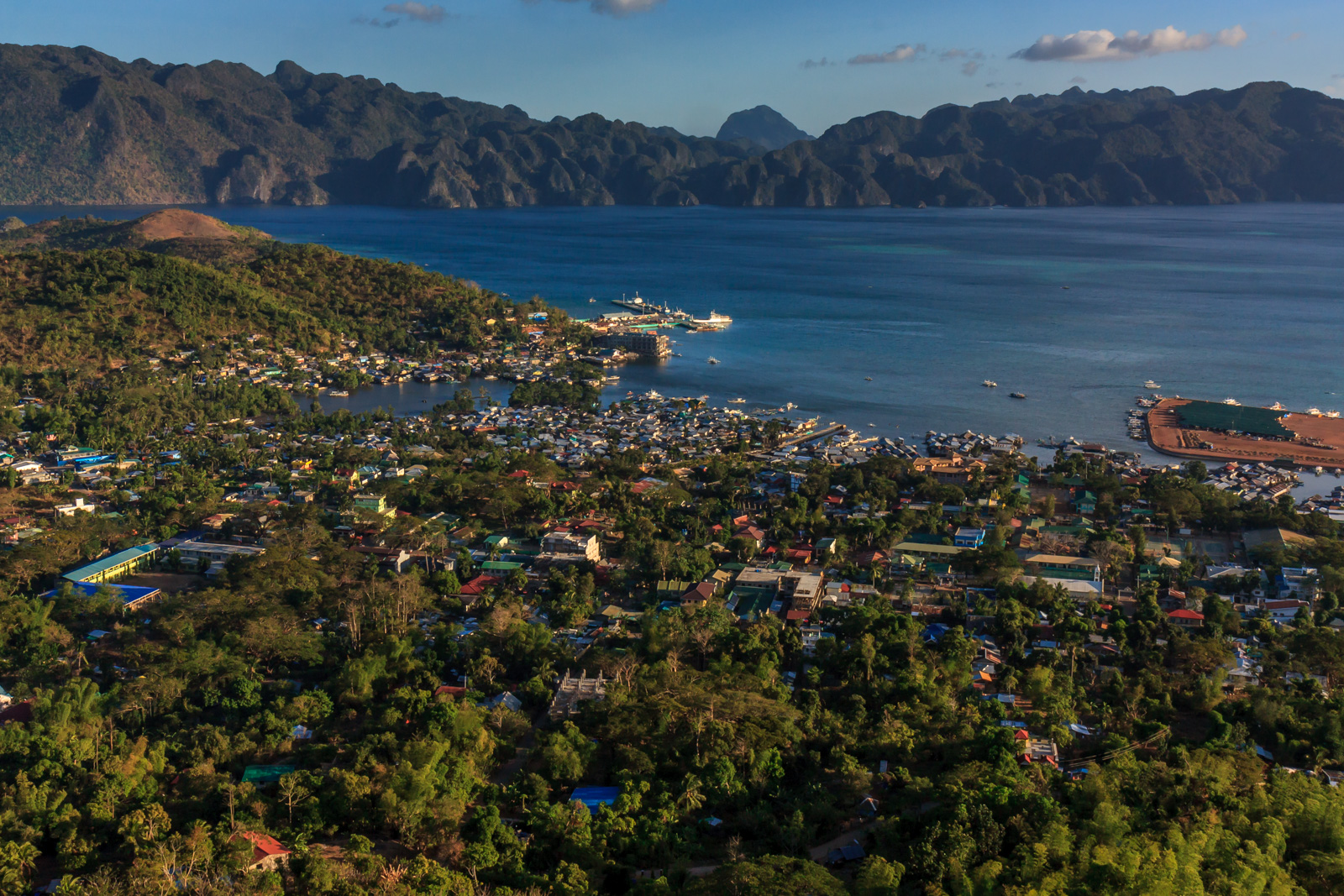 Coron Town, from the top of the hill.