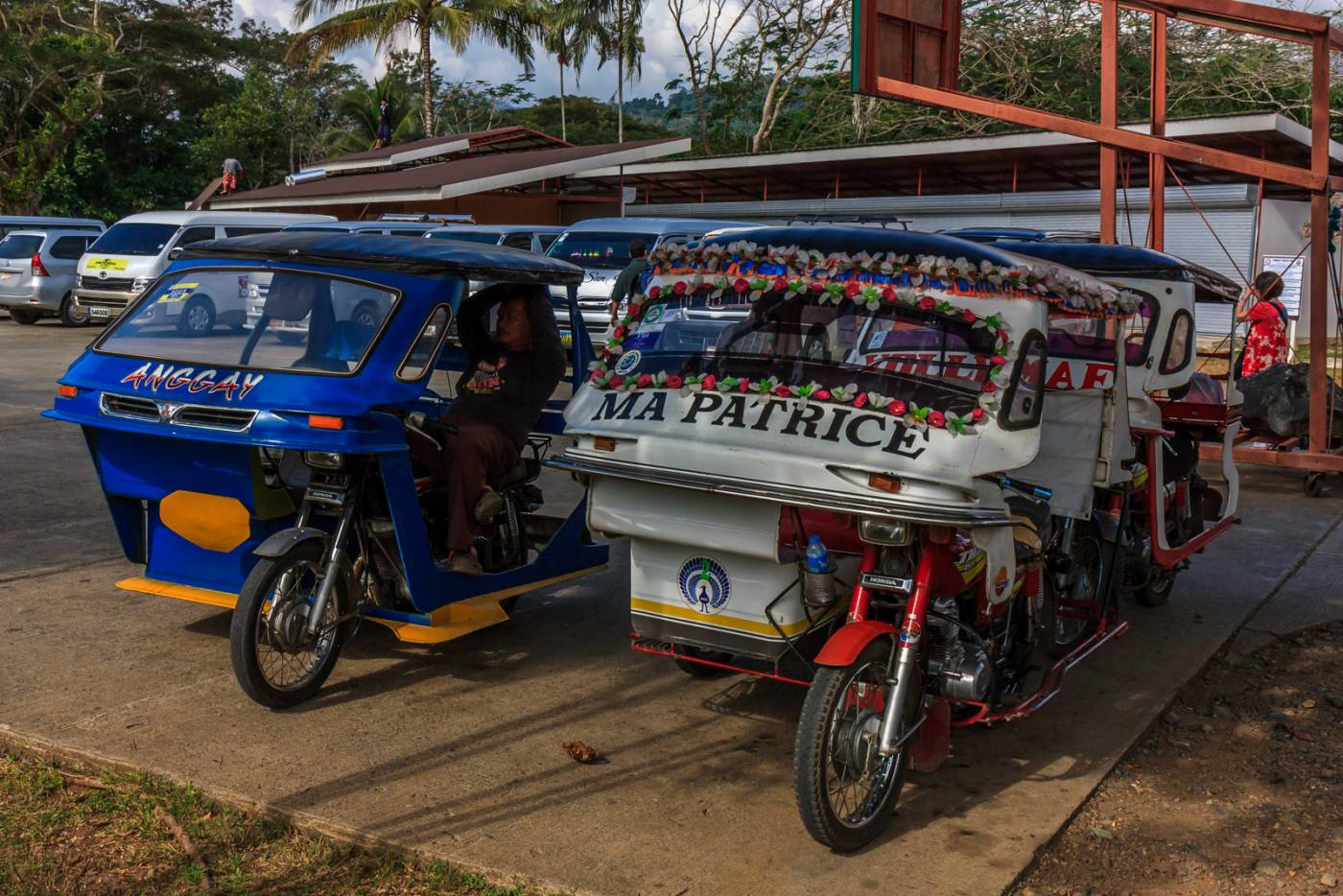 Palawan tricycles look like little cars.