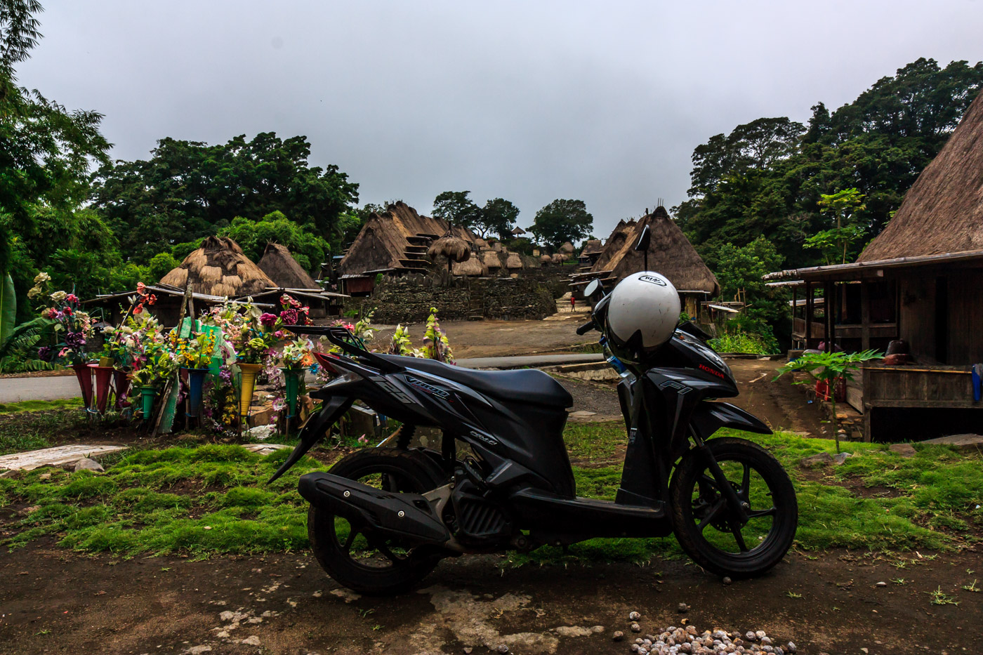 Riding to remote villages.