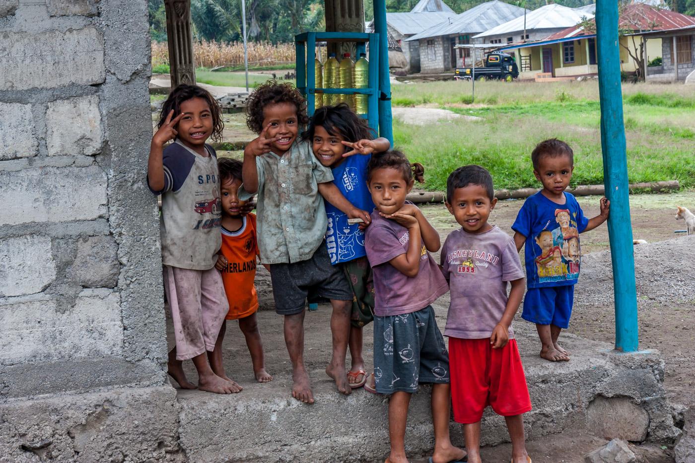 Kids in Wawomudha village.