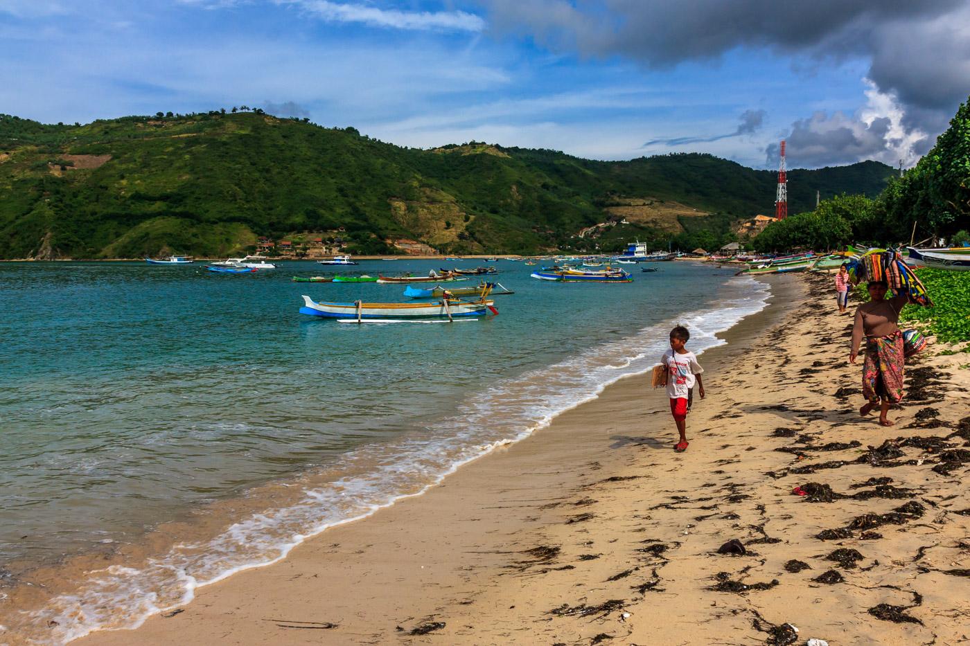 Kuta, Lombok is a fishing village.