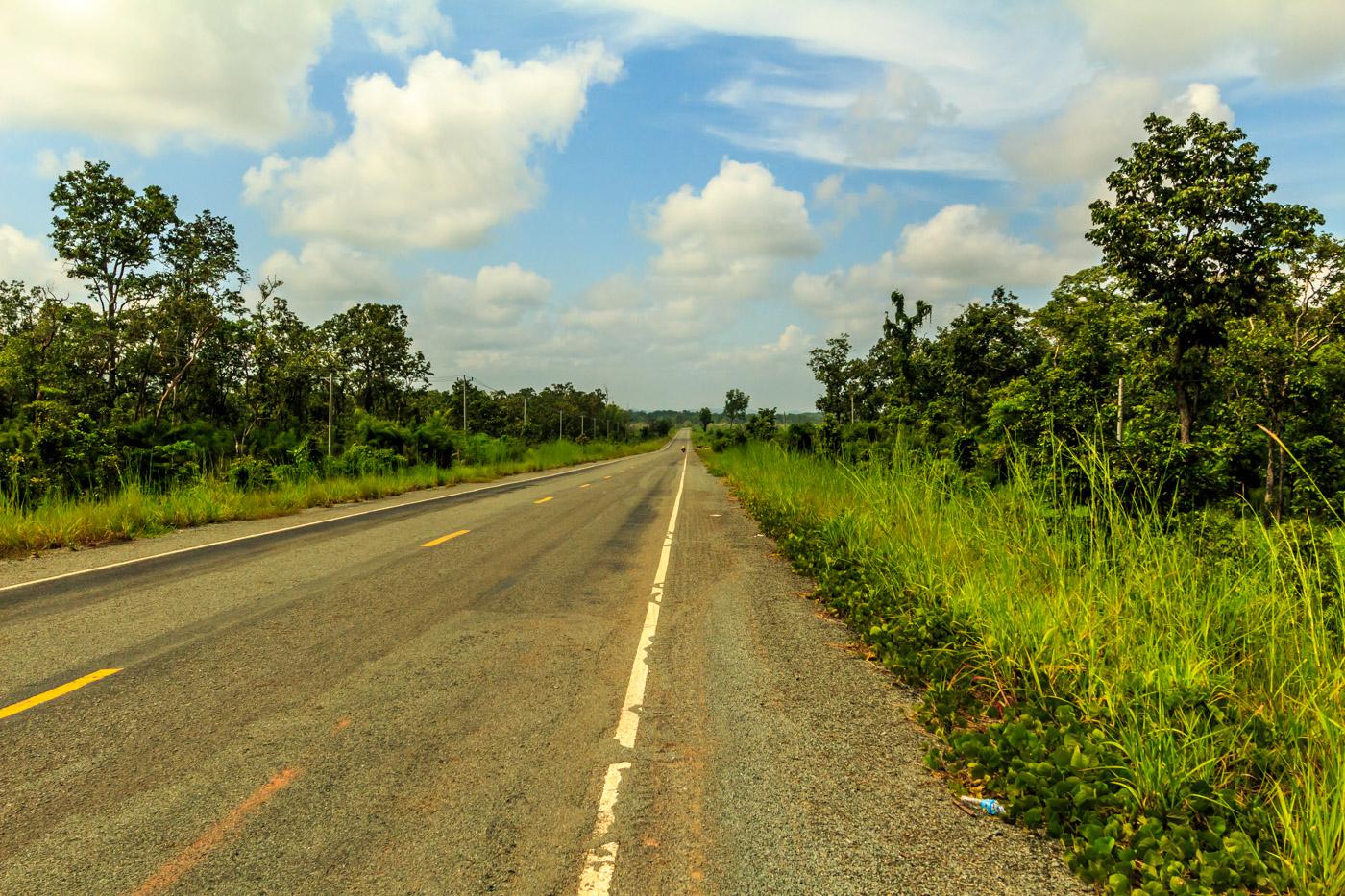 A remote stretch of road.