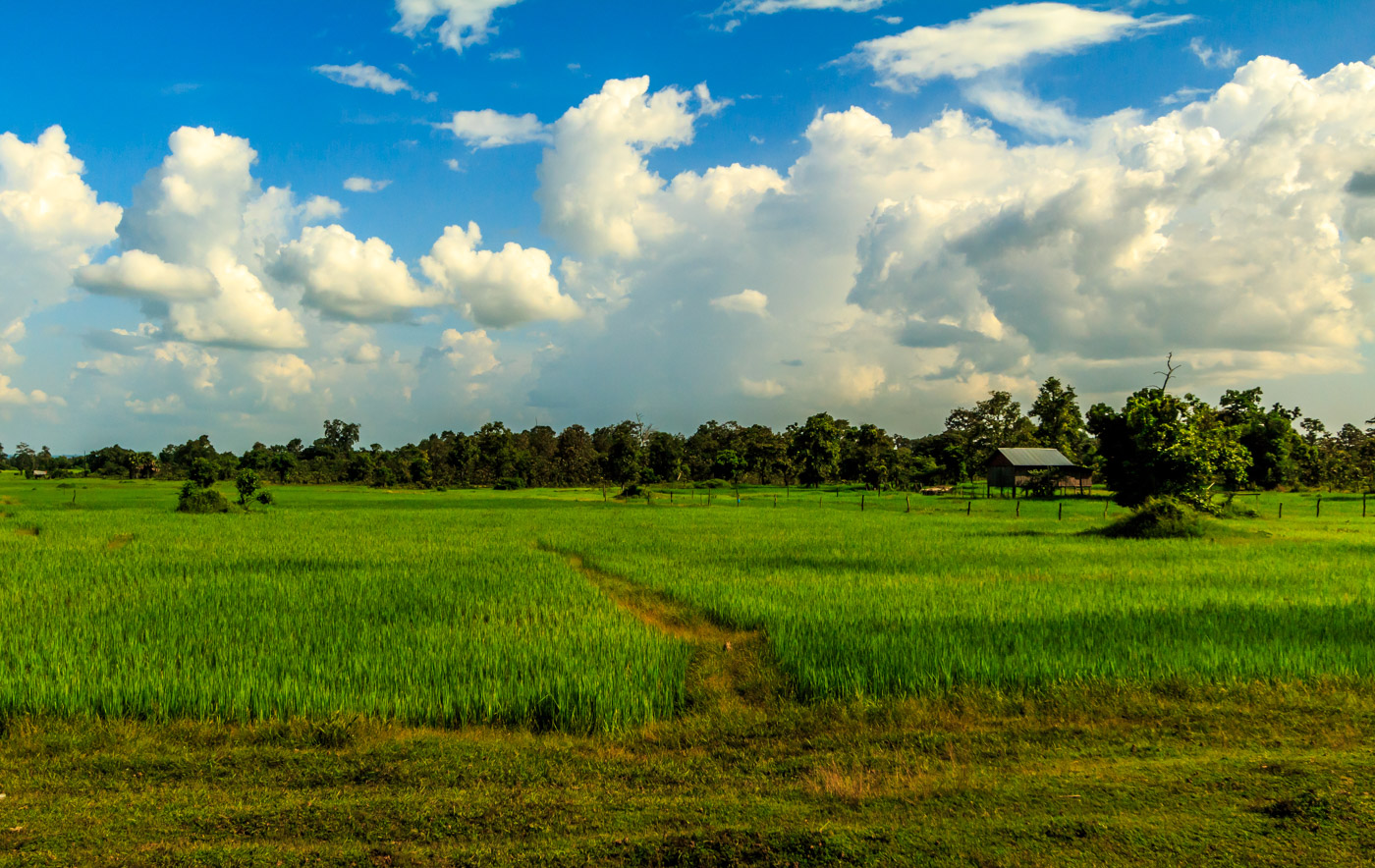 The Stung Treng countryside.
