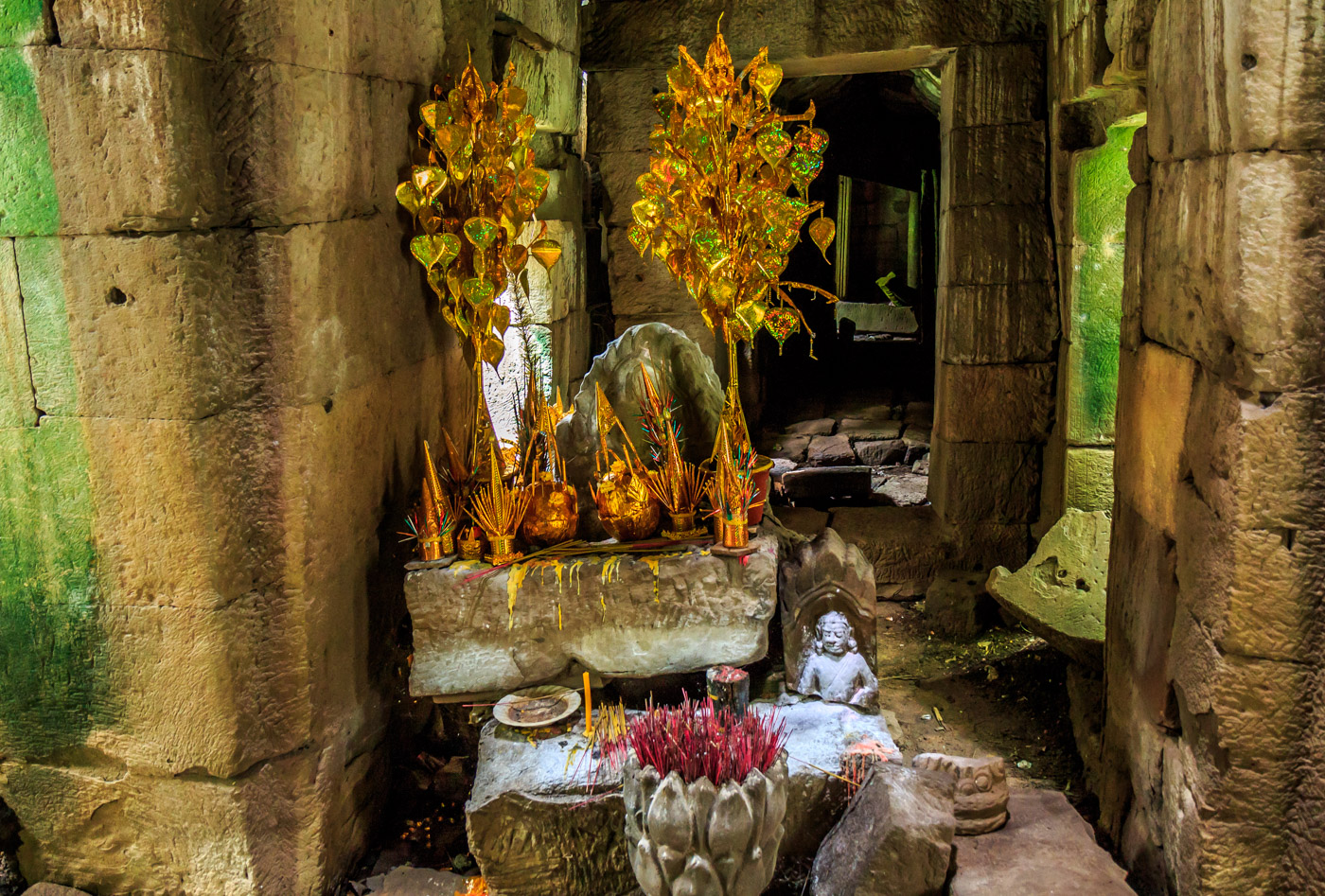 A shrine inside the temple