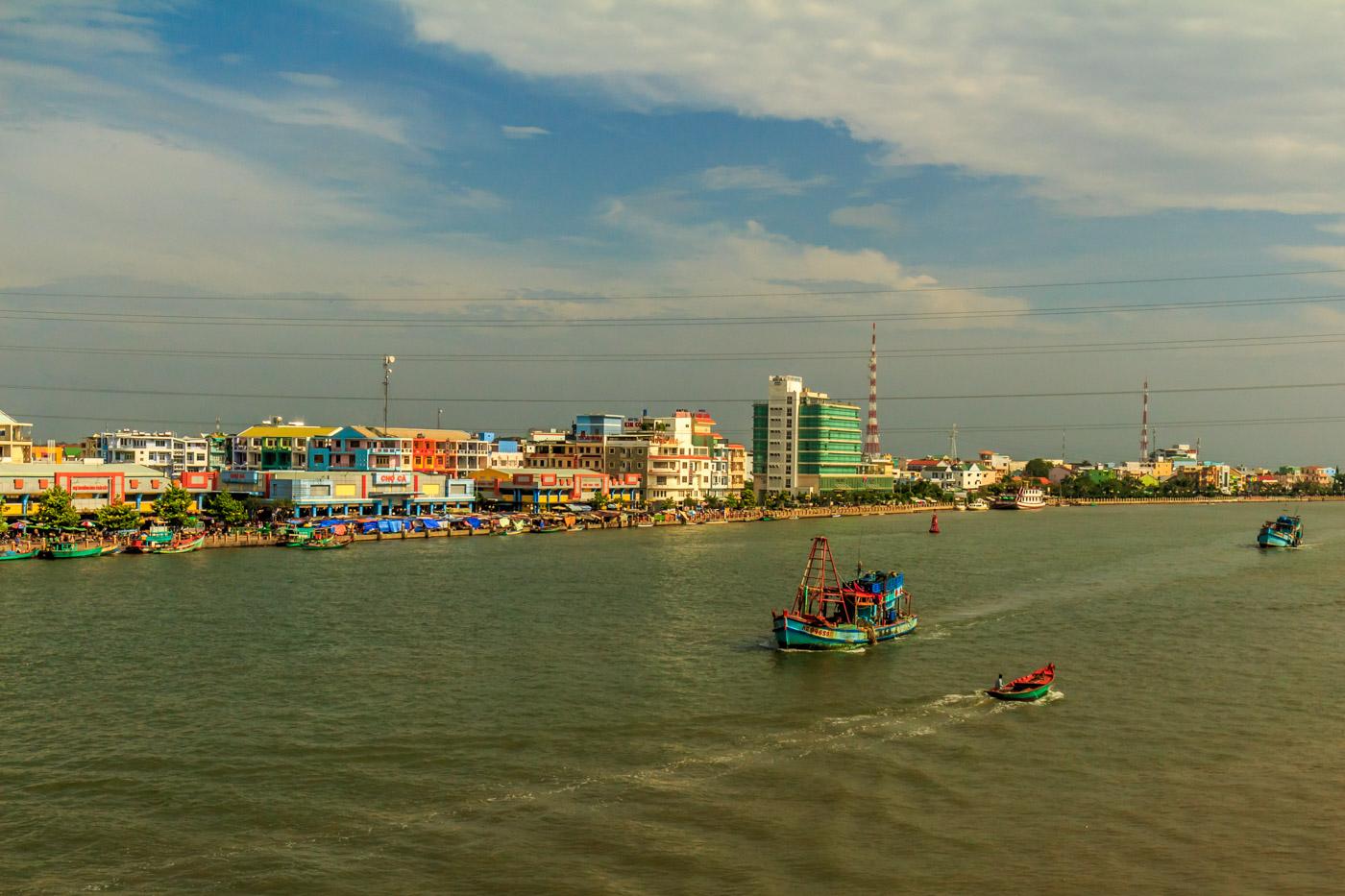Hà Tiên from the river.