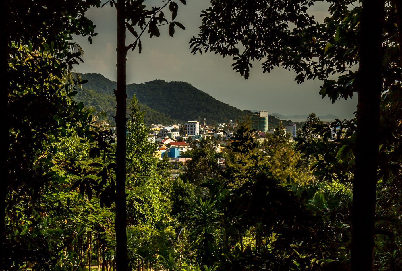 Hà Tiên from the hill.