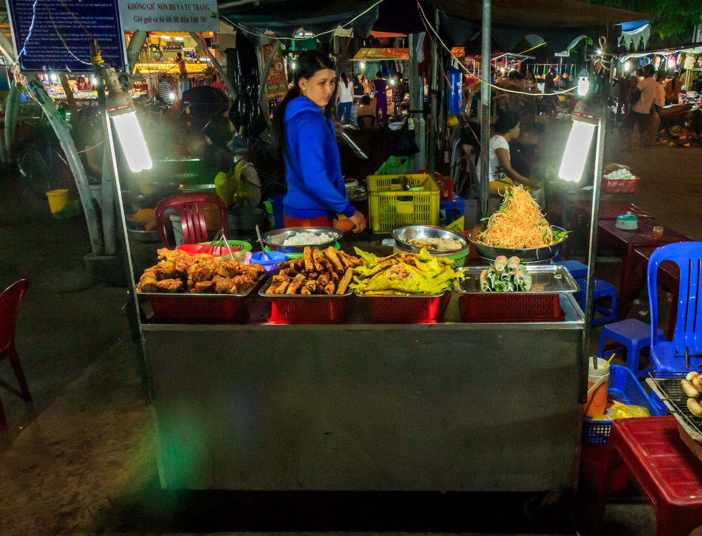 Good food at the night market.