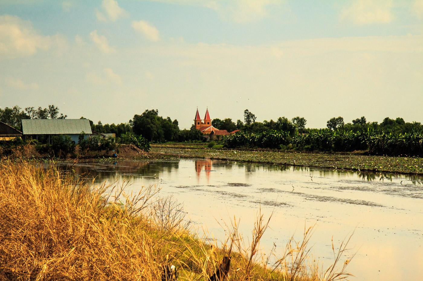 A church among the fields.