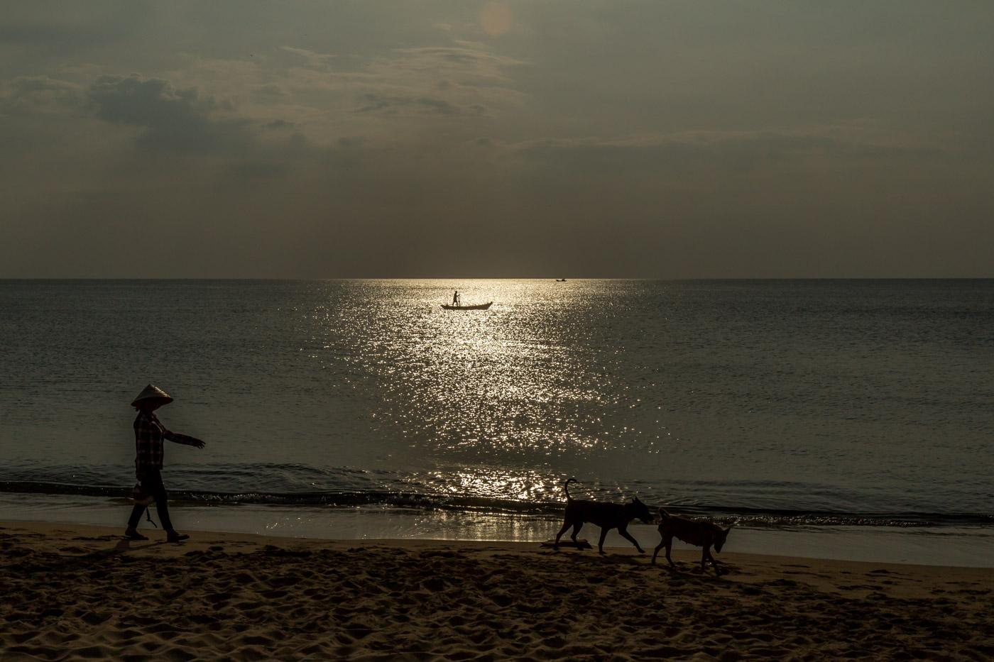 A walk on the beach.