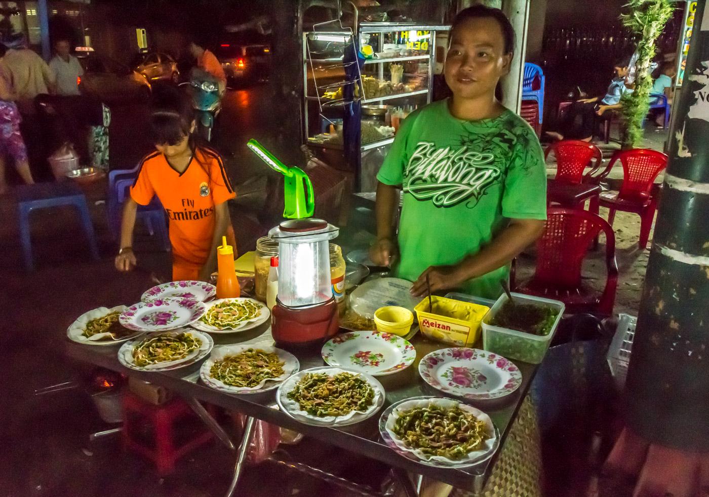 Vietnamese tacos at the night market.