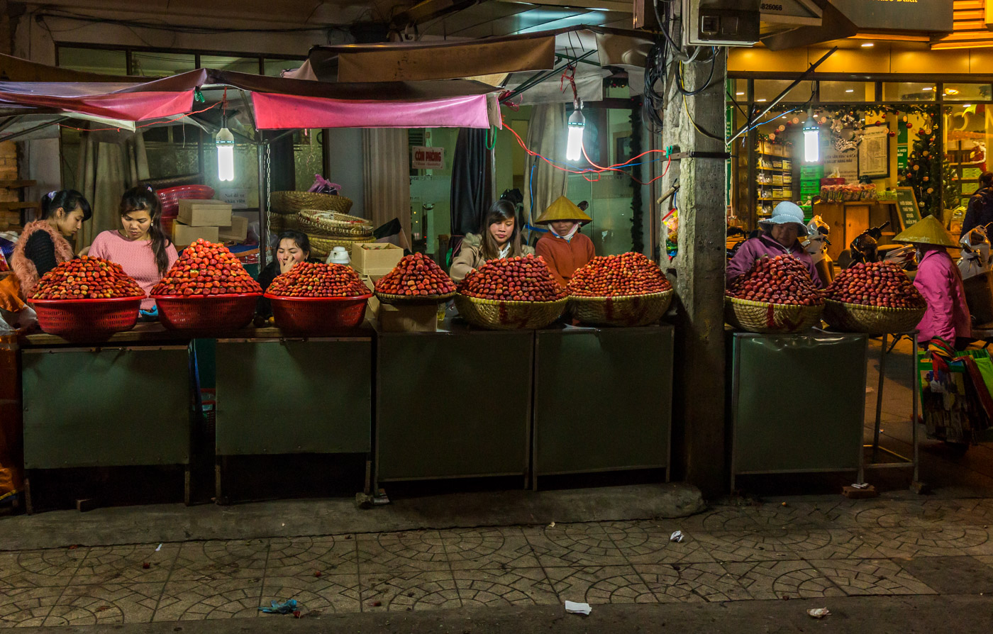Strawberries at the night market.