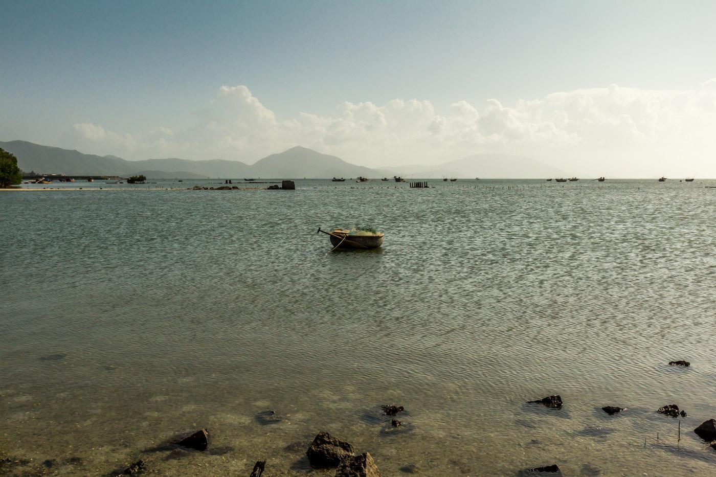Vietnamese coracle boat.