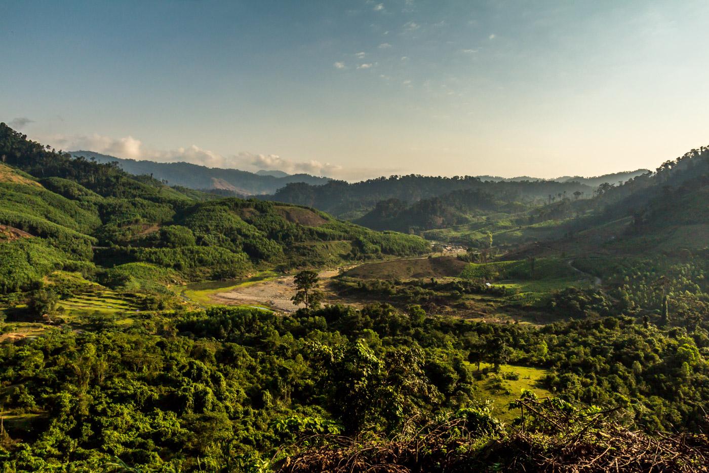 I passed through the hills surrounding Kham Duc.