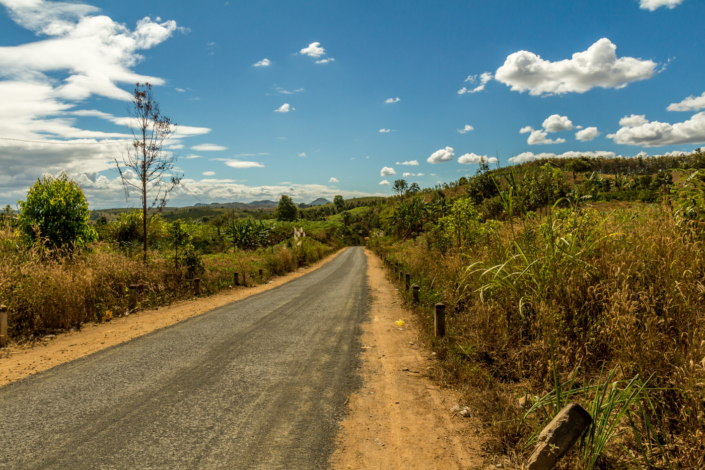 Down the back road, and into the countryside.