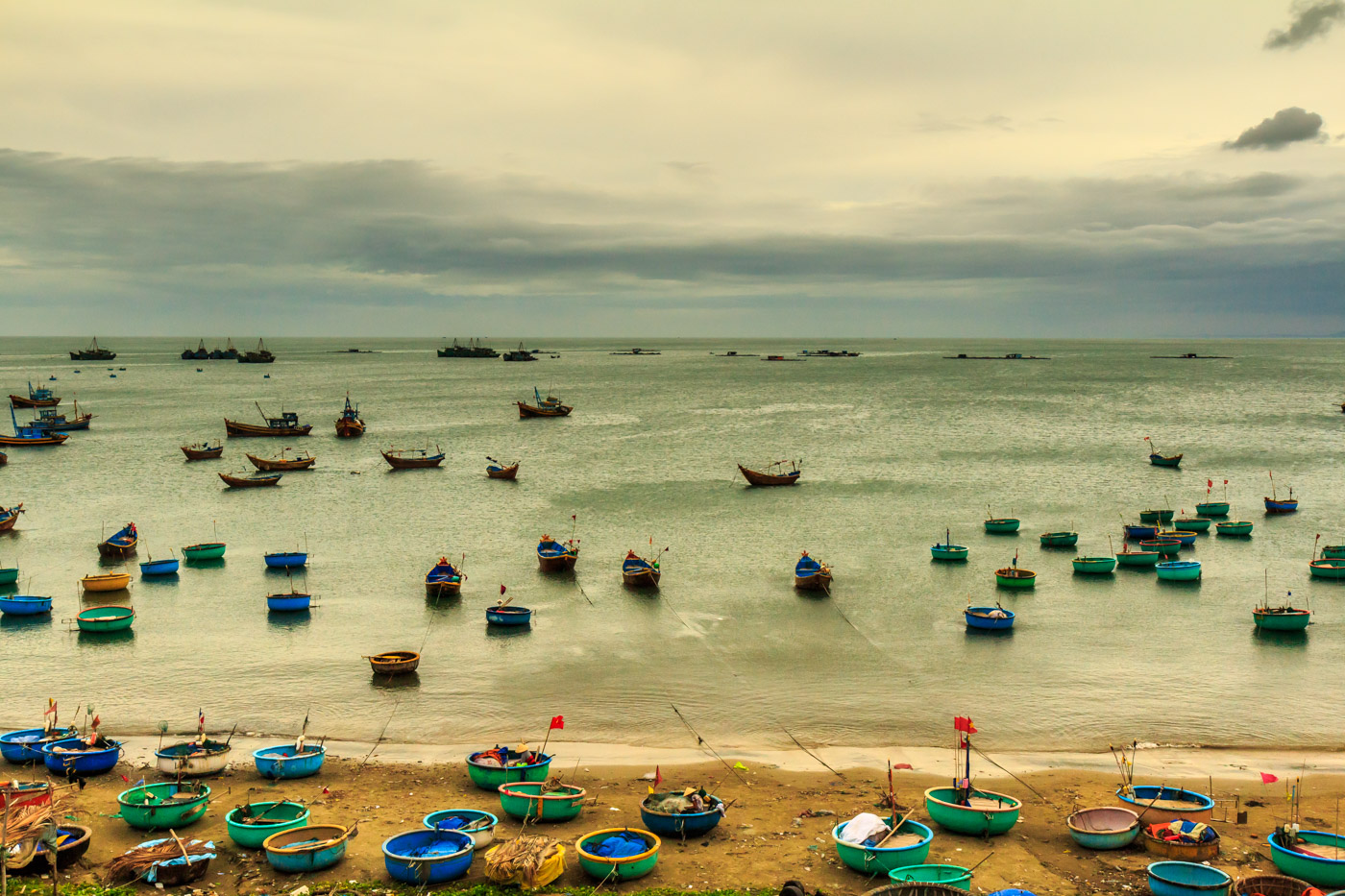 Mui Ne's fishing boats.