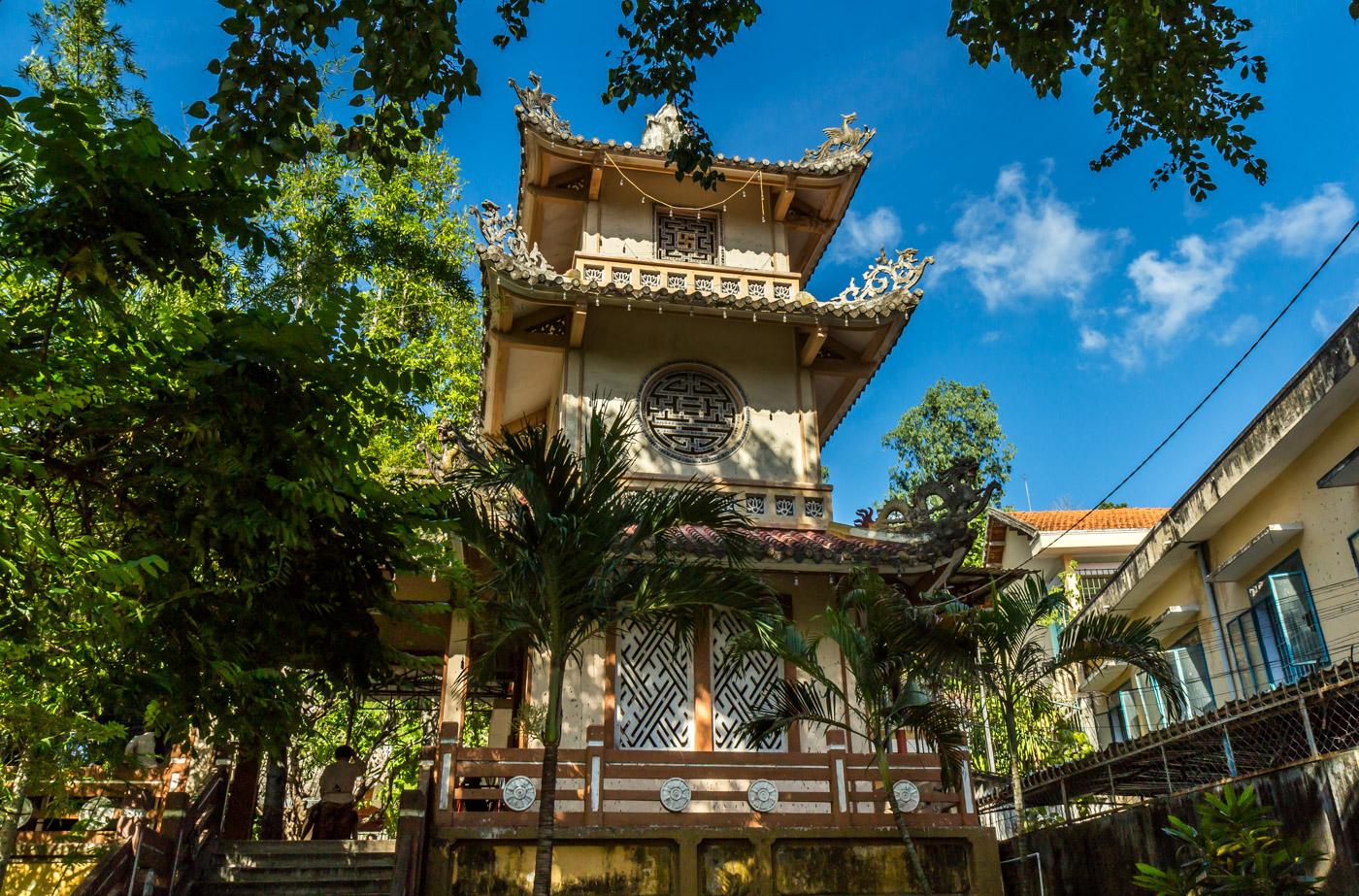 At the pagoda.
