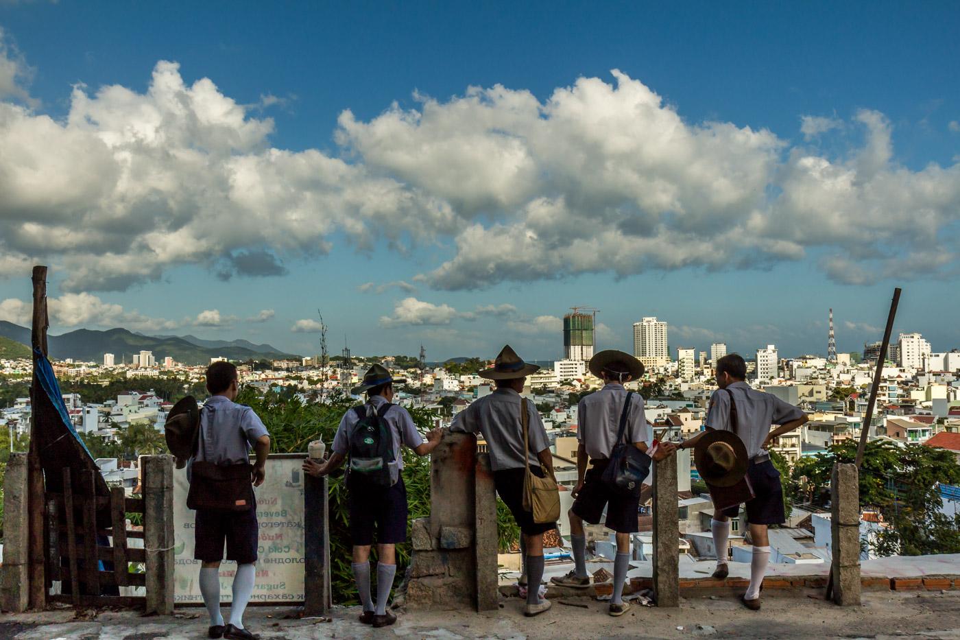 Scouts enjoying the view.