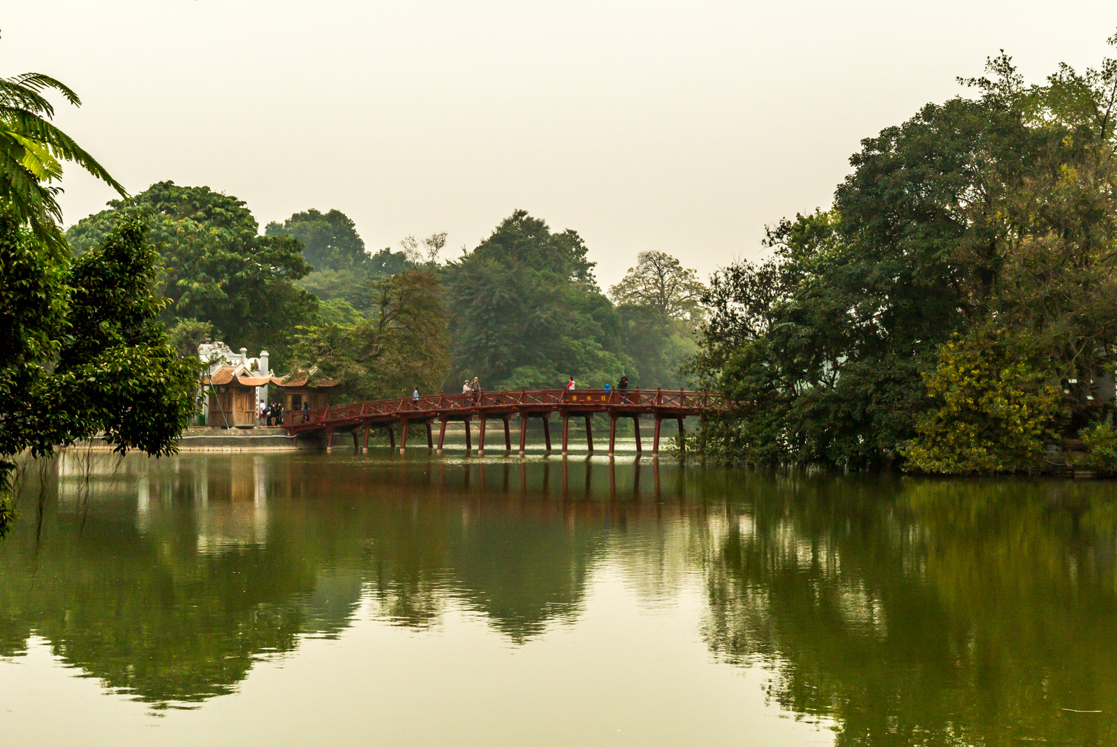 Little bridge to Ngoc Son Temple.