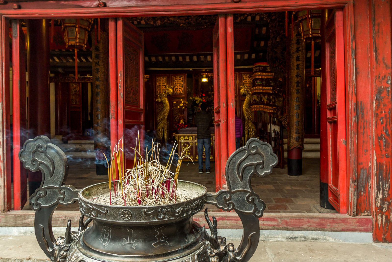 Offerings at the temple.