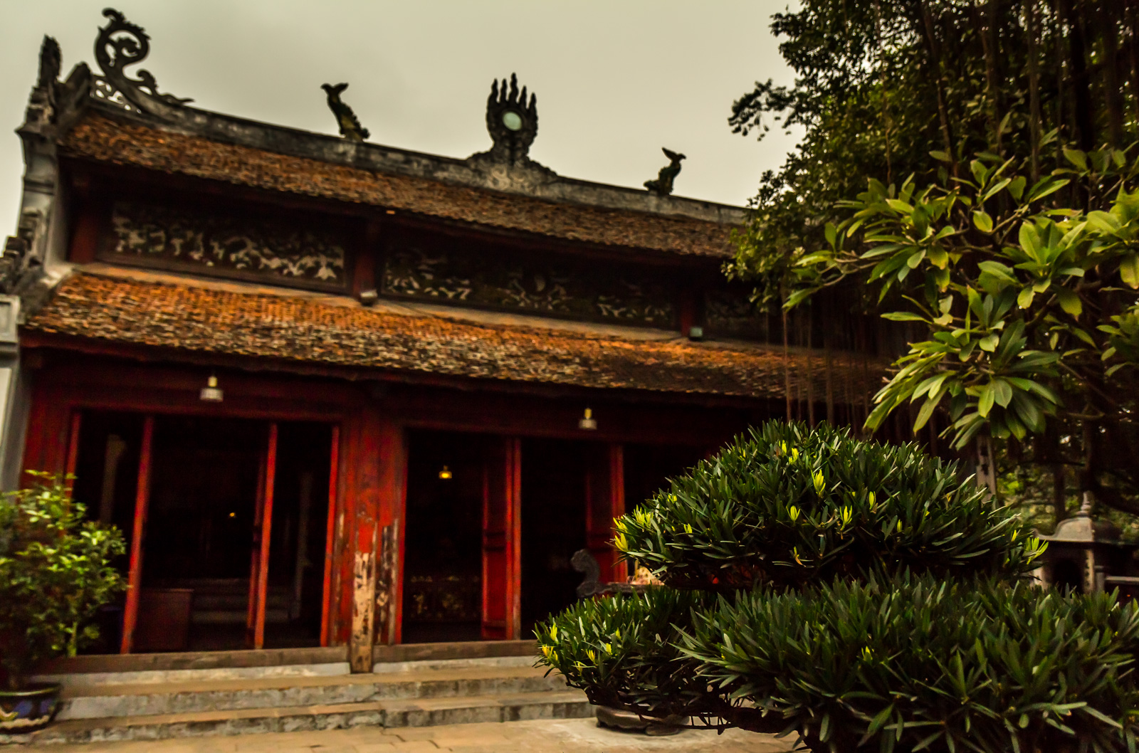 Another view of Ngoc Son Temple.