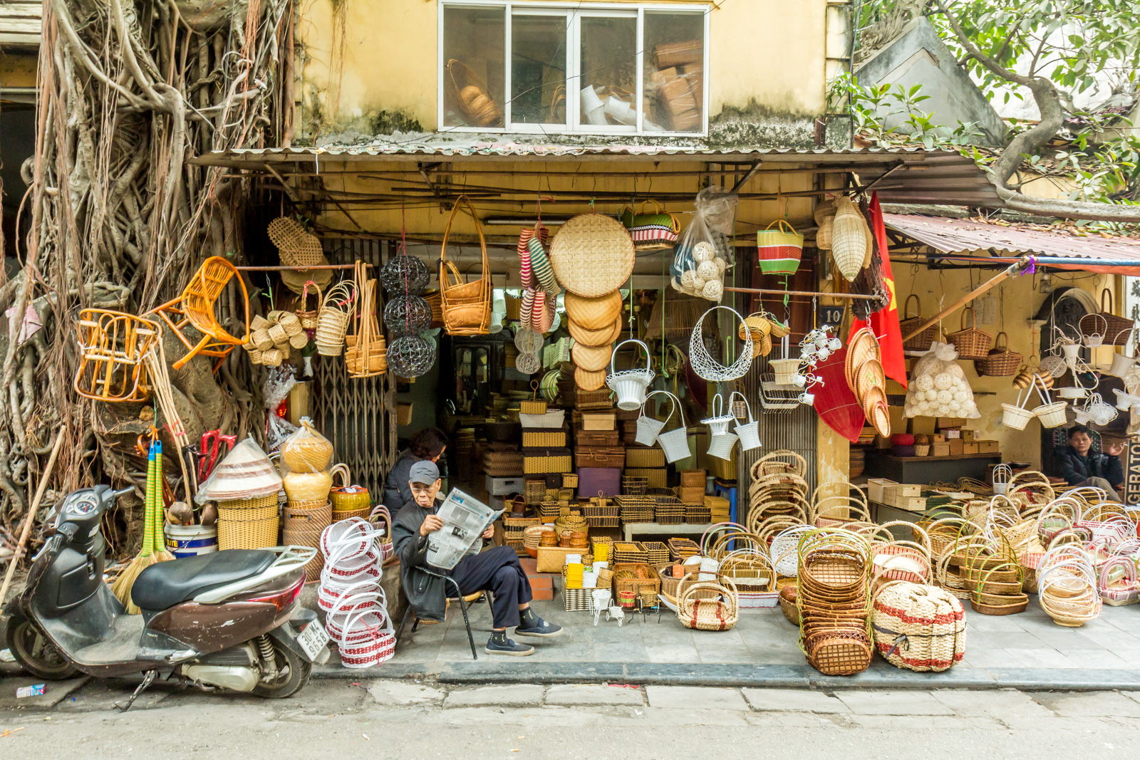 A basket shop.