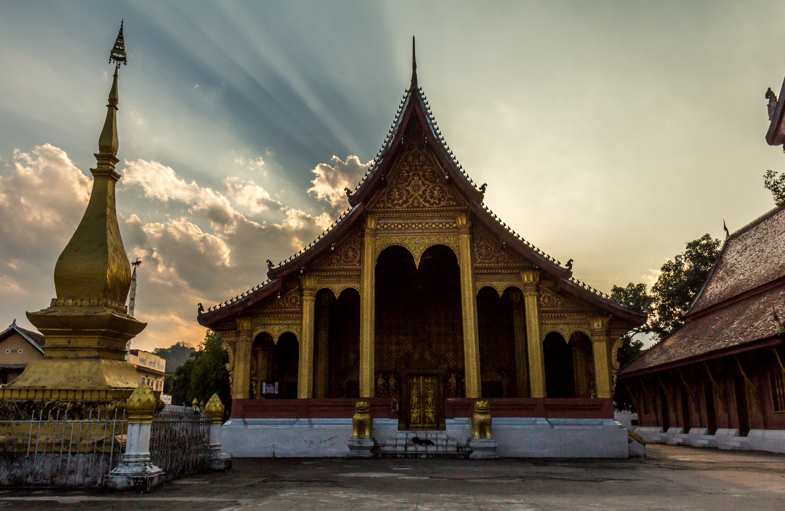 One of Luang Prabang's many temples.