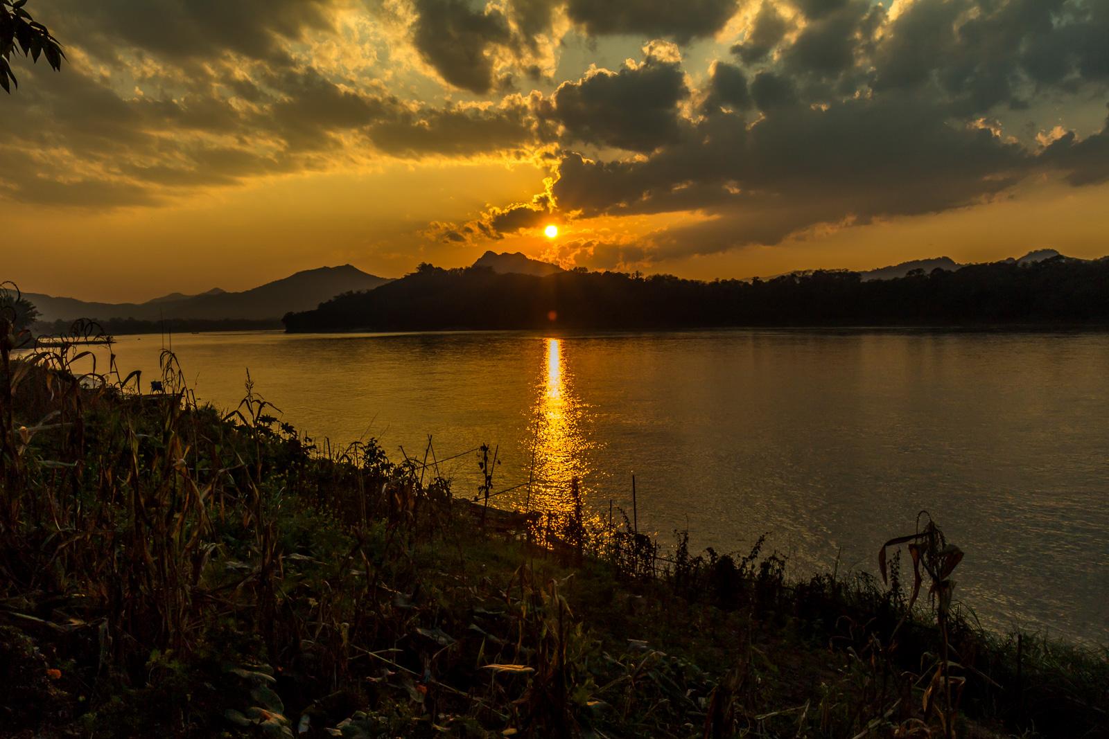 Sunset on the Mekong.