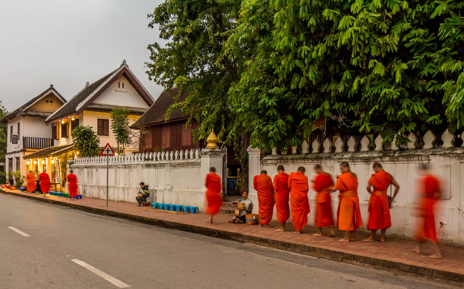 The monks made their appearance.