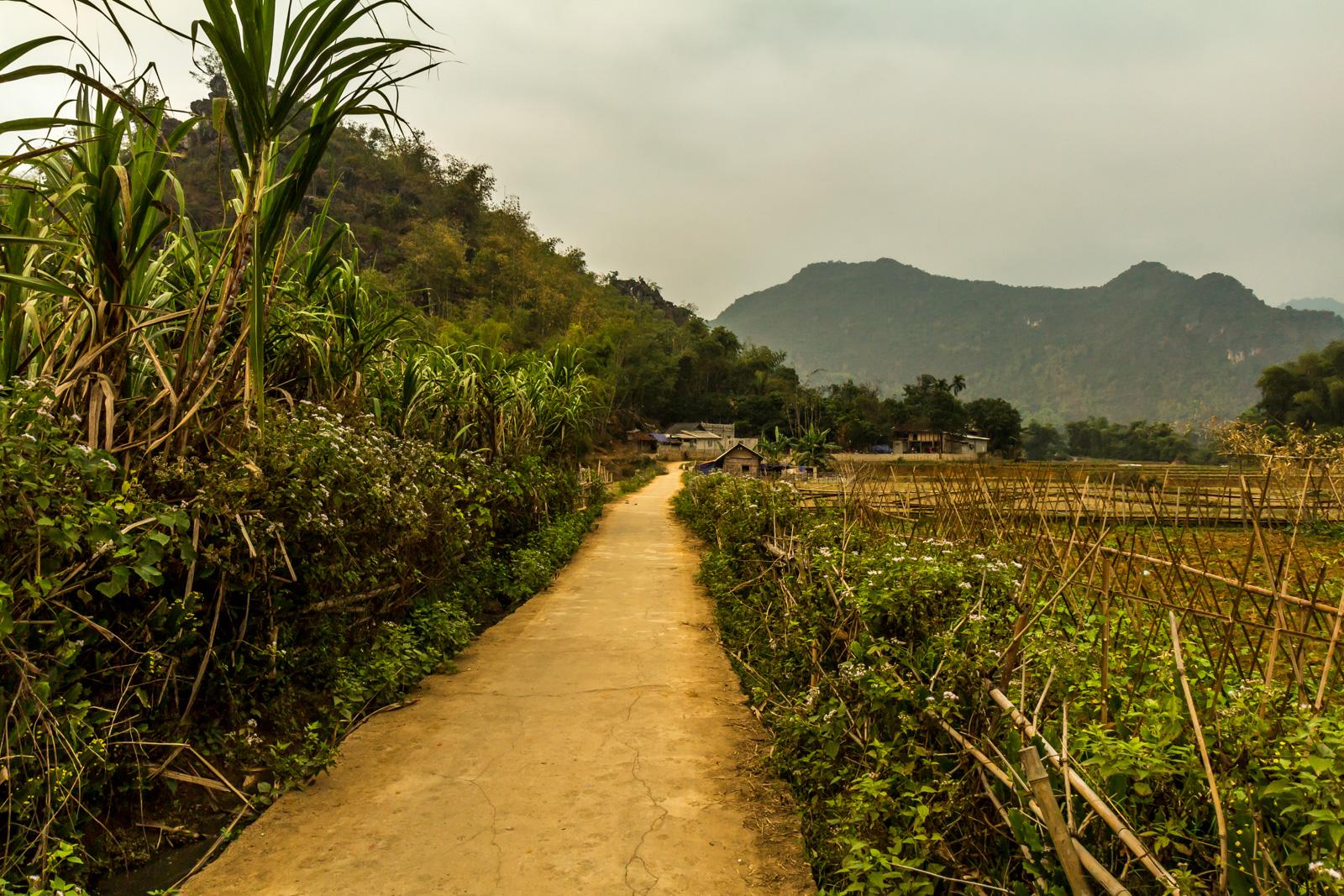 Exploring the back roads of Mai Chau.