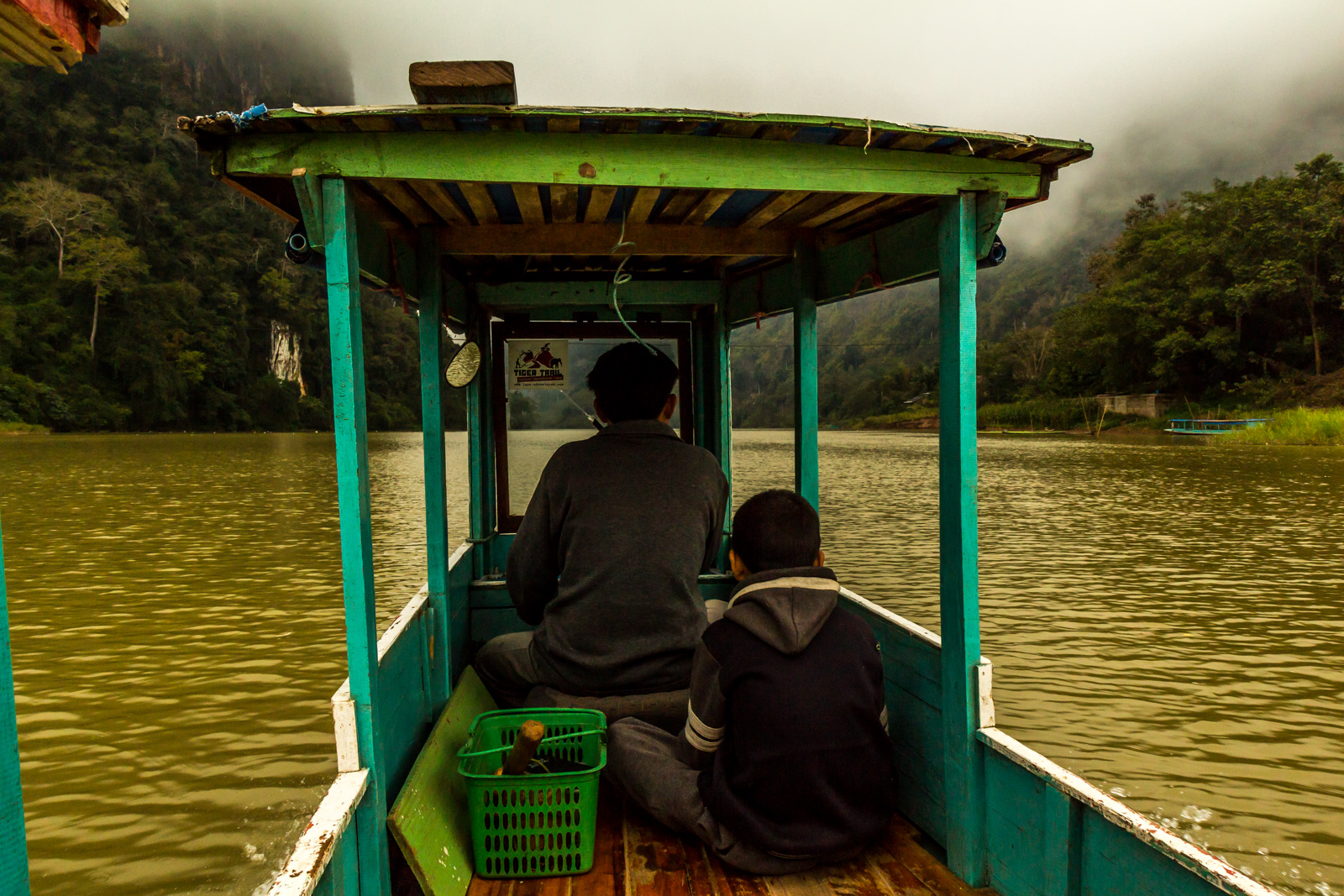 The trek started with a boat ride.