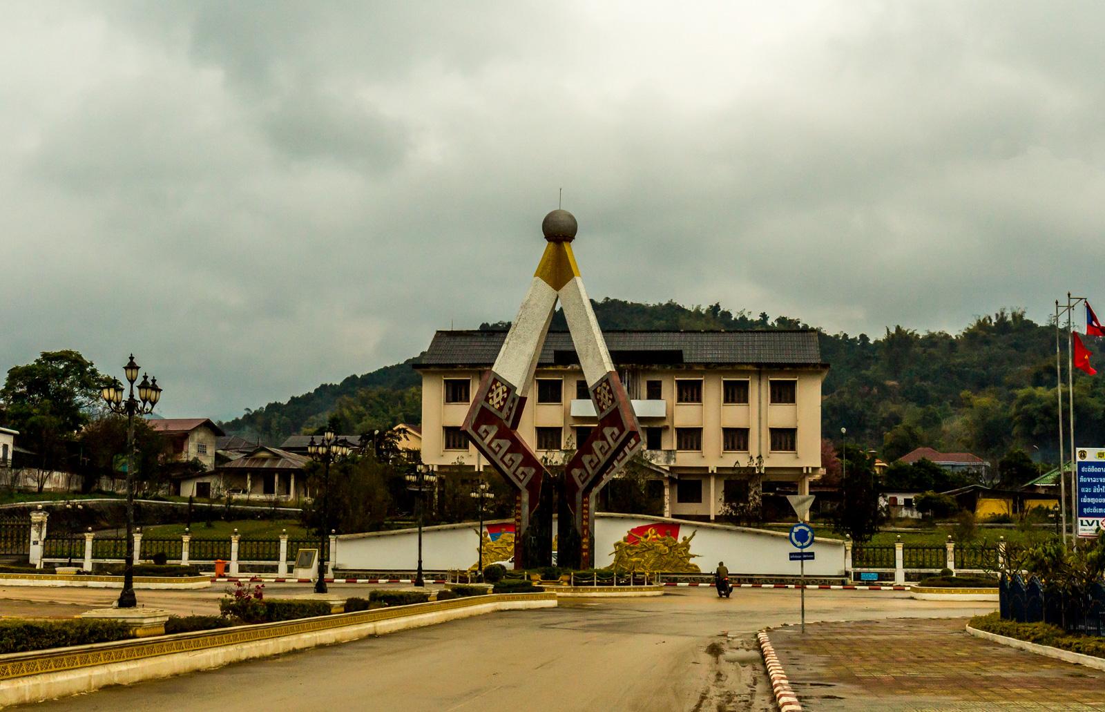 Sam Neua's distinctive Independence Monument.