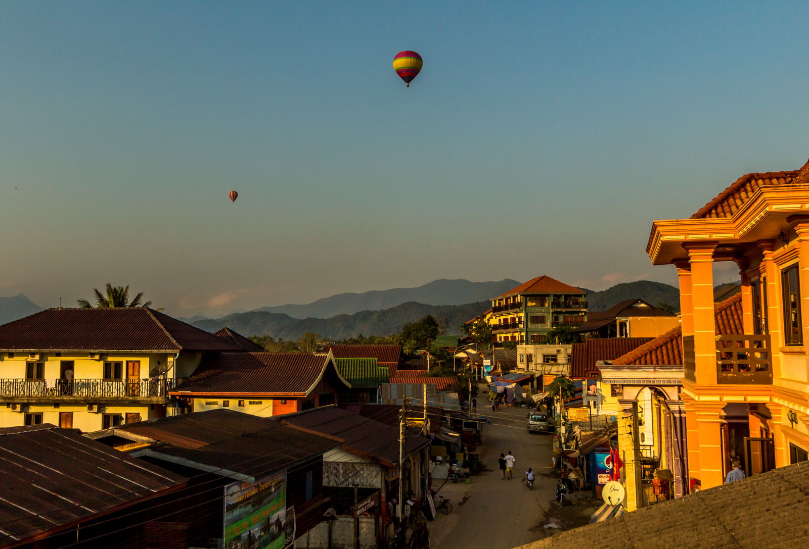 Balloons over Vang Vieng.