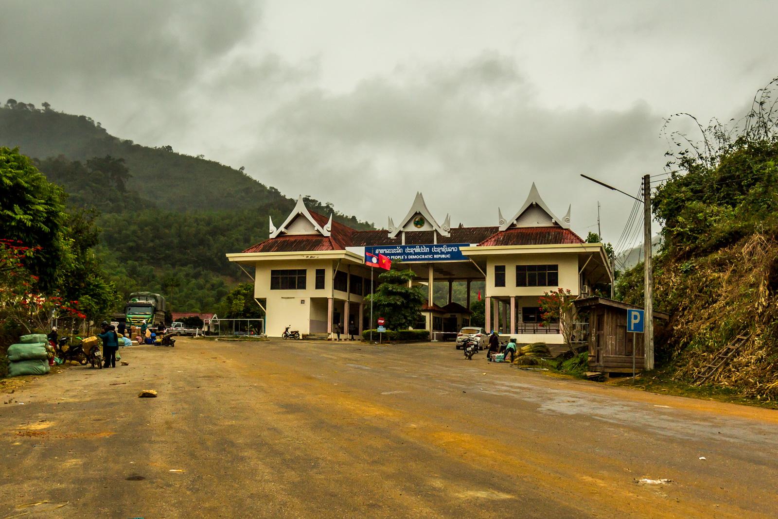 Approaching Laos.