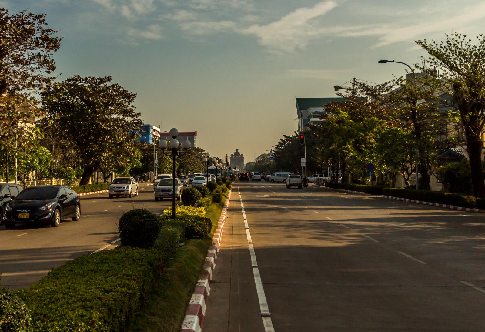 Arriving in Vientiane.
