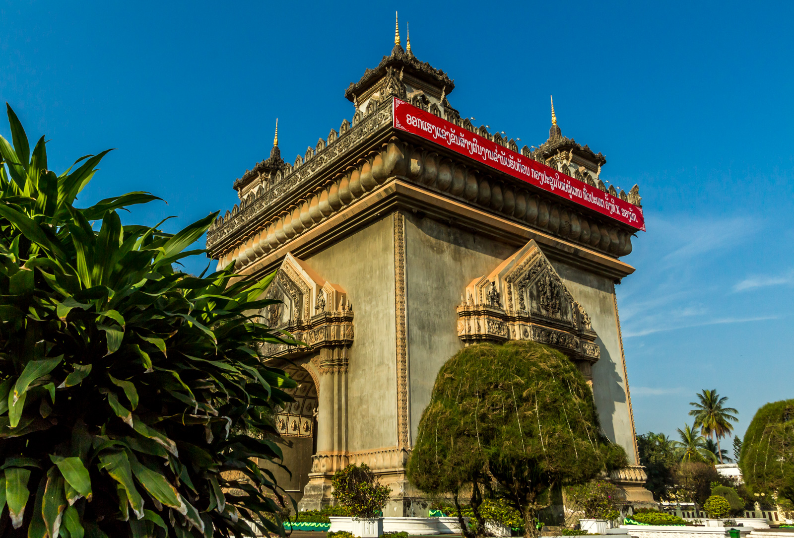 Vientiane's Independence Monument.